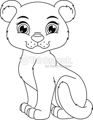 Pagina da colorare di pantera arte vettoriale thinkstock for Panther coloring page