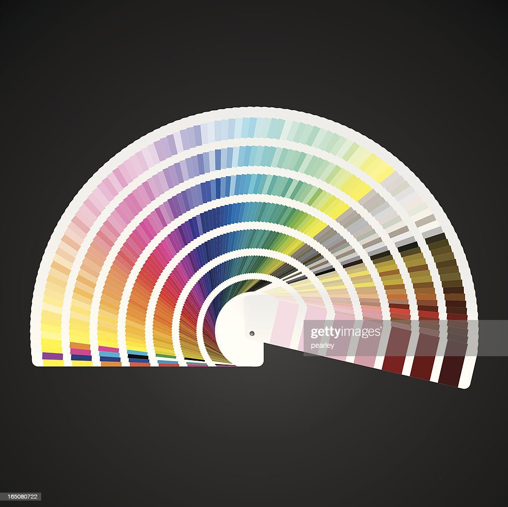 pantone color swatch book vector art - Color Swatch Book