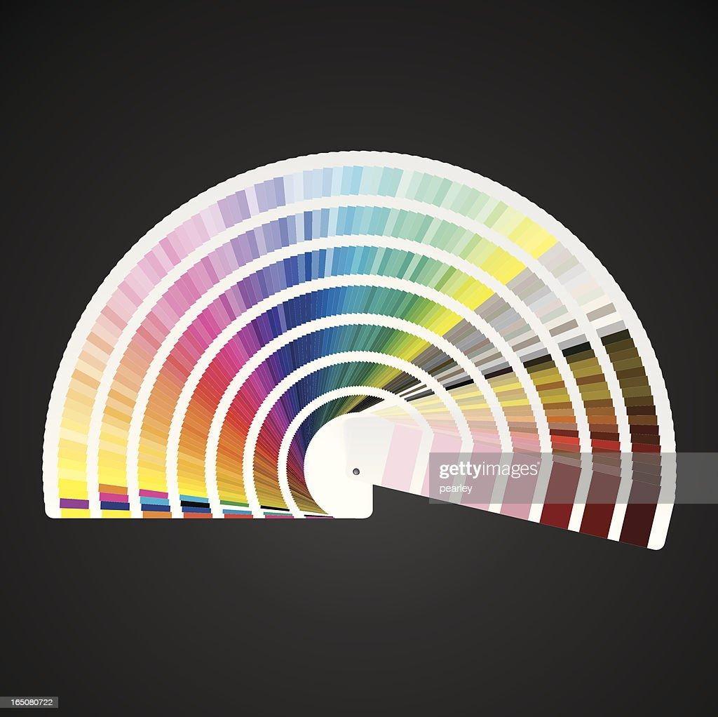 pantone color swatch book vector art - Pantone Color Swatch Book
