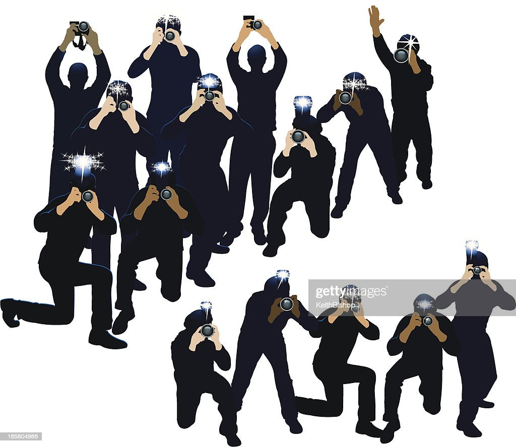 Paparazzi photojournalists photographers vector art for Paparazzi clipart