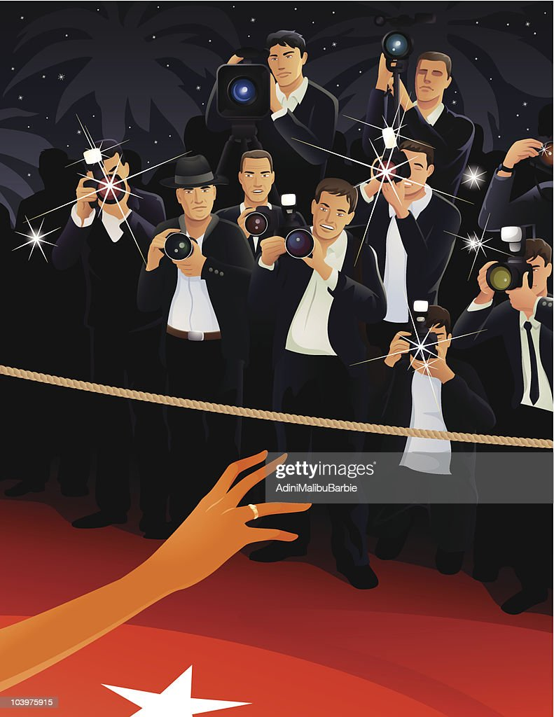 Paparazzi attente pour les c l brit s clipart vectoriel for Paparazzi clipart