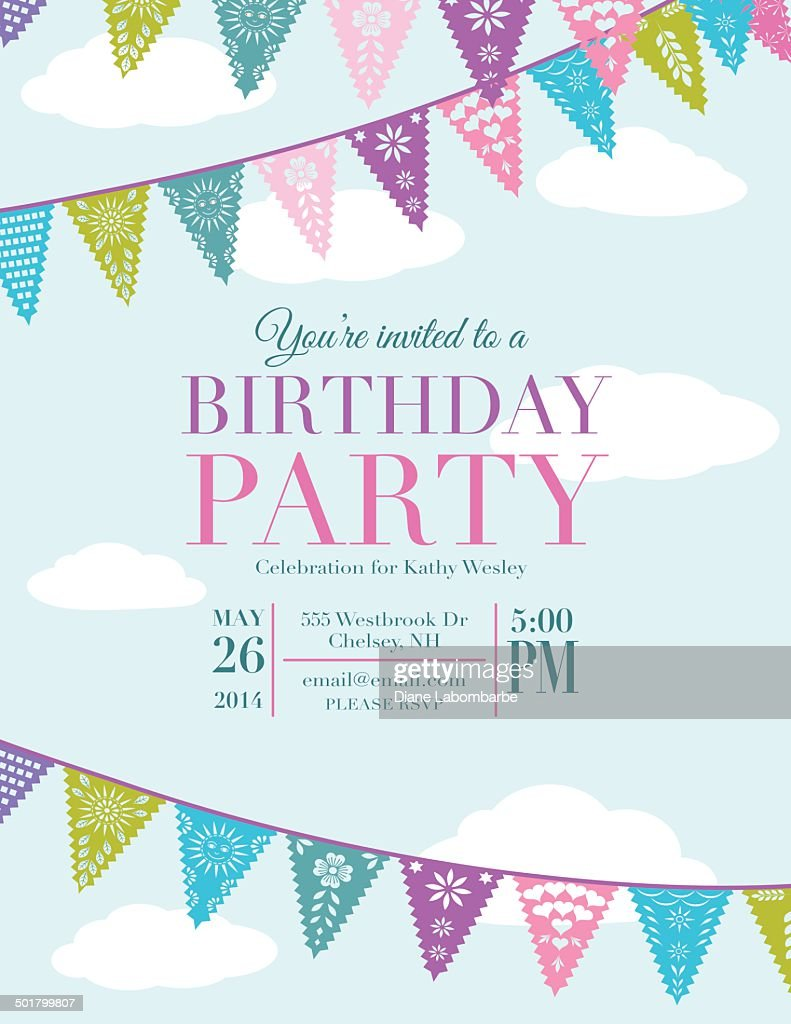 birthday party invite template