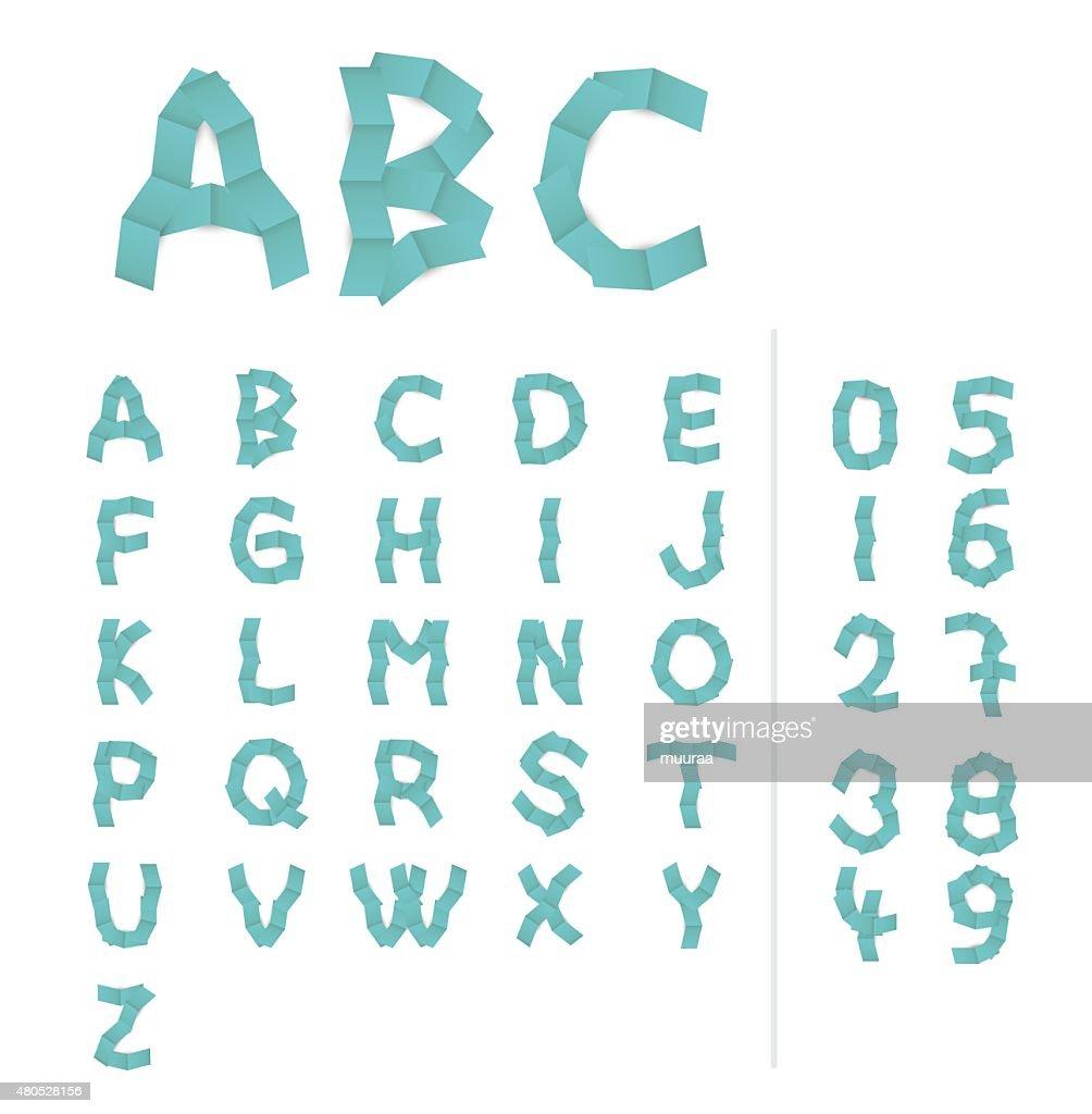 paper alphabet letters : Vector Art