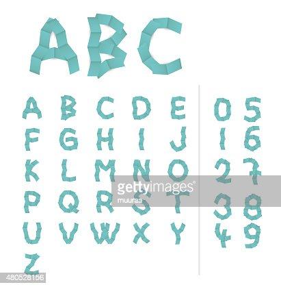 紙アルファベット文字 : ベクトルアート