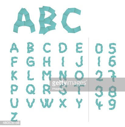 paper alphabet letters : Vektorgrafik