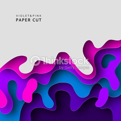 Paper Cut 3d Abstract Background With Paper Cut Shapes Design