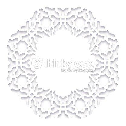 Paper Cut Out Vector Illustration 3d Round White Frame Vignette ...