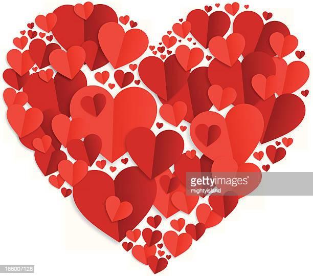 Paper cut valentines heart