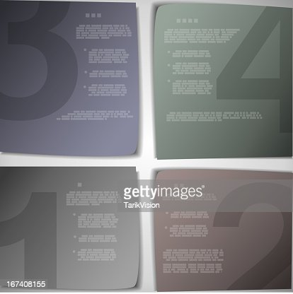 Paper pages for progress or versions presentation : Vector Art