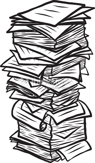 Line Drawing Newspaper : Papier pile clipart vectoriel thinkstock