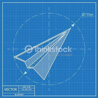 Paper plane sign airplane symbol travel vector blueprint icon vector paper plane sign airplane symbol travel vector blueprint icon vector art malvernweather Gallery