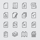Paper sheet line icon