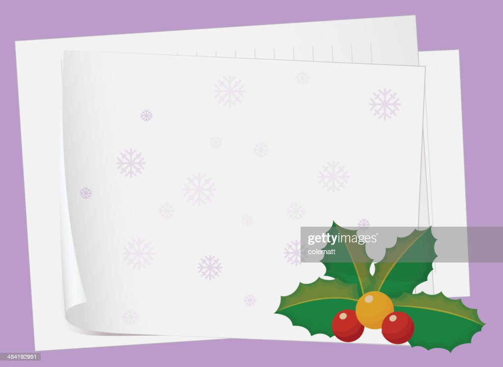 Paper sheets and cherry : Vector Art