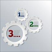 Paper Techno Gears Cog Wheels Infographics vector