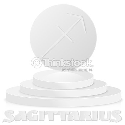 Paper Zodiac Sign Sagittarius Astrological And Horoscope Symbol On