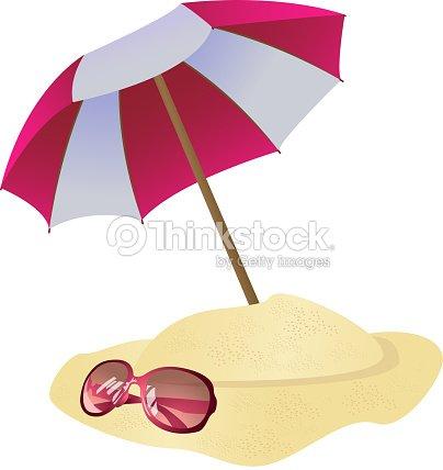 Parasol et lunettes de soleil clipart vectoriel thinkstock - Dessin parasol ...