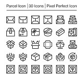 parcel post,package line icon,editable stroke,pixel perfect icon