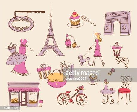 Paris element design vector art getty images for Design paris