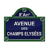 Paris street avenue plate sign symbol set