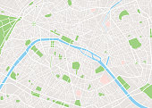 illustration vector of Paris city map