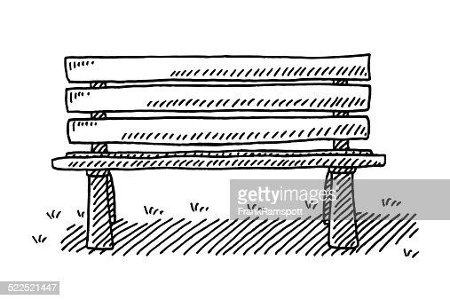 banc de parc dessin clipart vectoriel getty images