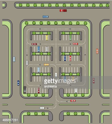 Parking lot plan vector art getty images for Lot plan search