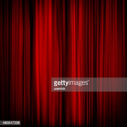 Part of a red curtain - dark. EPS 10 : Vector Art