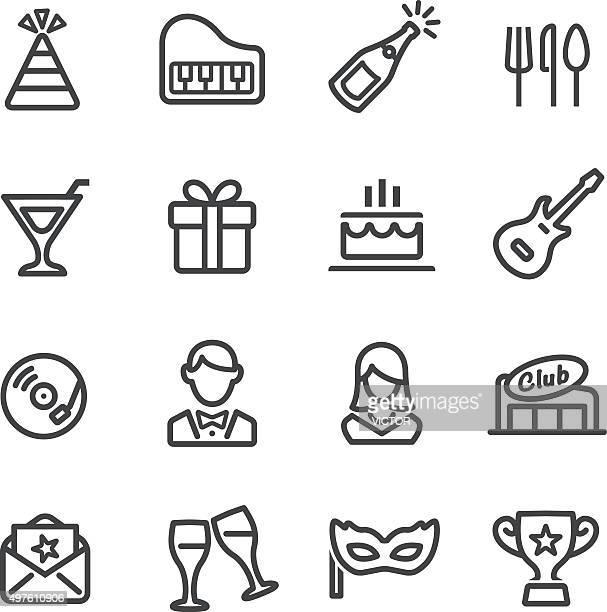 Fête et dîner icônes-Série ligne