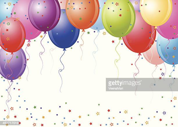 Party Balloons With White Background