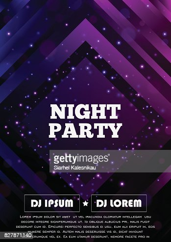 Party club flyer. Vector poster template : stock vector