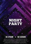 Party club flyer. Vector poster template. EPS10