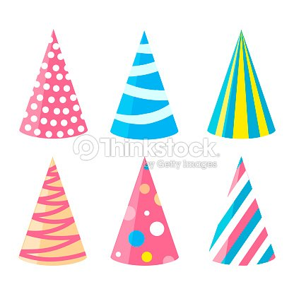 Party Different Hats Collection For A Birthday Celebration New Year And Other Holidays