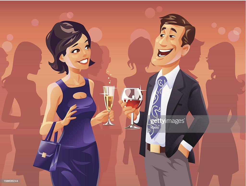 Party Flirt : Vector Art