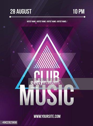 Party Flyer. Club music flyer. Dj lineup design. Vector template : stock vector