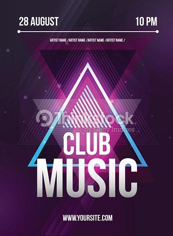 Flyer De Fiesta Club Hoja De Música Dj Serie Diseño Vector De ...