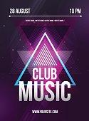 Party Flyer. Club music flyer. Dj lineup design. Vector template.