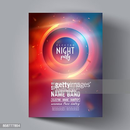 Party Flyer or Brochure Layout Template. Club Party Banner design. : stock vector