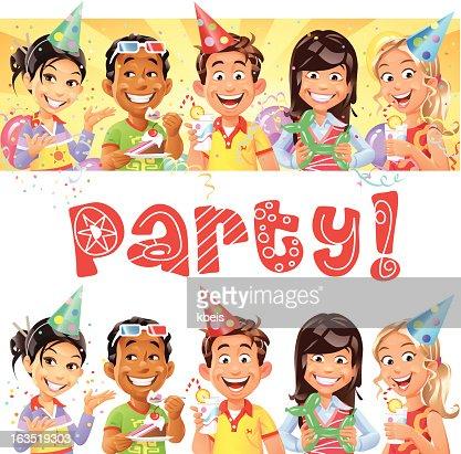 Party Kids : Vector Art