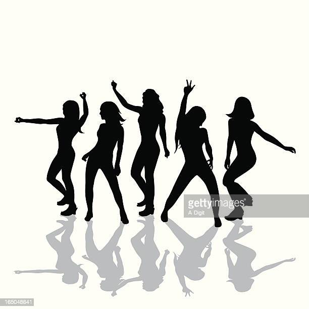 Party Moves Vector Silhouette