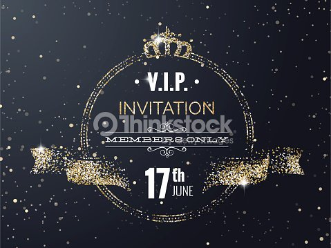 Vip party premium invitation card poster with curving ribbon vector vip party premium invitation card poster with curving ribbon vector art stopboris Image collections
