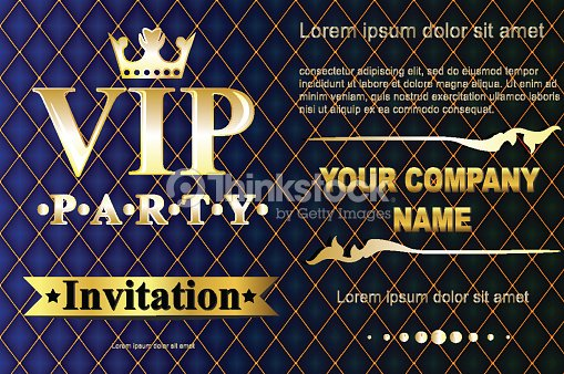 Vip party premium invitation cards posters flyers black and golden vip party premium invitation cards posters flyers black and golden vector art stopboris Image collections