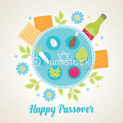 Passover greeting card with jewish holiday symbols vector art passover greeting card with jewish holiday symbols vector art m4hsunfo