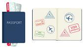 Passport on white background illustration
