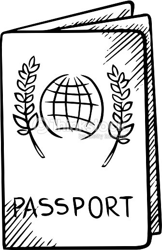 Passport Sketch With Globe On Cover Vector Art | Thinkstock