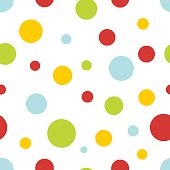 pastel circles seamless background