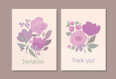 Abstract pastel color boho style floral element for header, card, invitation, poster, cover. Decorative wild meadow flowers stick vector illustration