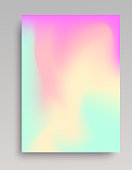 Pastel colored gradient background. Smooth transitions of turquoise, pink and yellow.