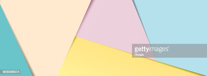 Pastel layered paper social media banner : stock vector