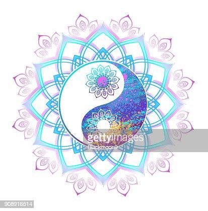 Pastel Symbol Of Yin Yang Vector Art Thinkstock