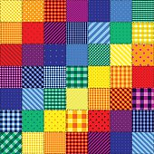 Seamless background pattern. Patchwork pattern of rainbow colors.